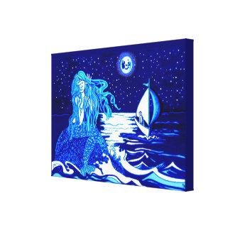 Mermaid moon canvas print