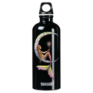 Mermaid Moon Fantasy Art Aluminum Water Bottle