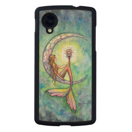 Mermaid Moon Fantasy Art by Molly Harrison Carved® Maple Nexus 5 Case