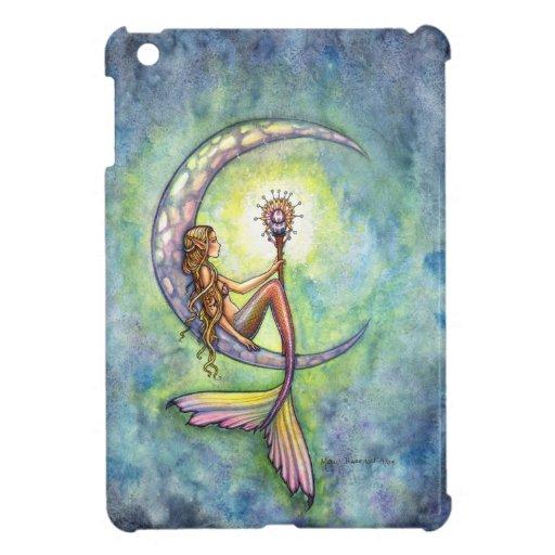 Mermaid Moon Fantasy Art iPad Mini Case
