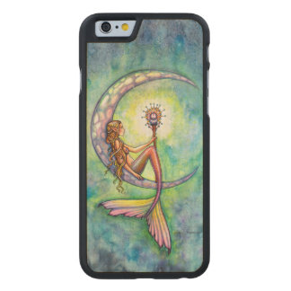 Mermaid Moon Fantasy Art iPhone 6 Wood Case Carved® Maple iPhone 6 Case
