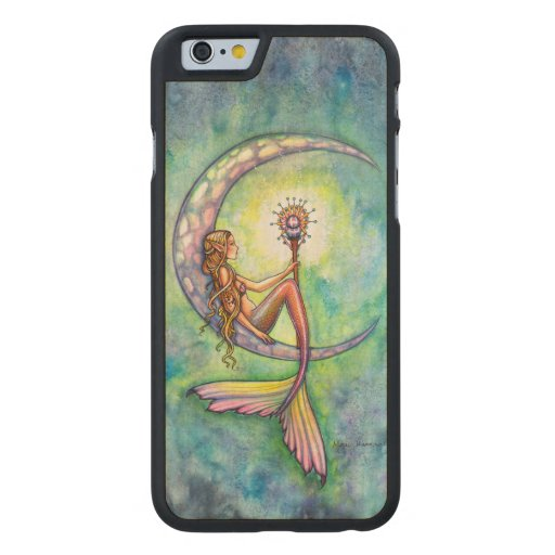 Mermaid Moon Fantasy Art iPhone 6 Wood Case Carved® Maple iPhone 6 Case
