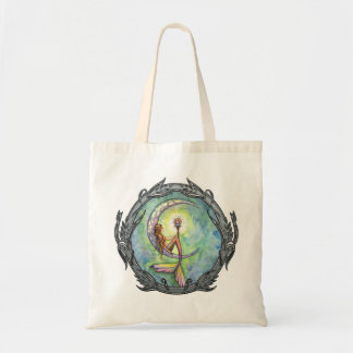 Mermaid Moon Fantasy Art Tote