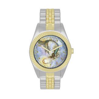 Mermaid Moon Fantasy Art Wristwatch