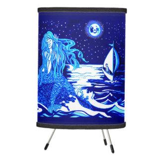 Mermaid moon tripod lamp