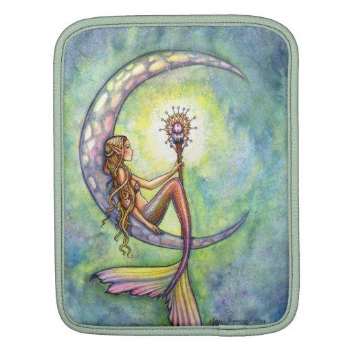 Mermaid Moon Watercolor Mermaid Molly Harrison Art MacBook Air Sleeves