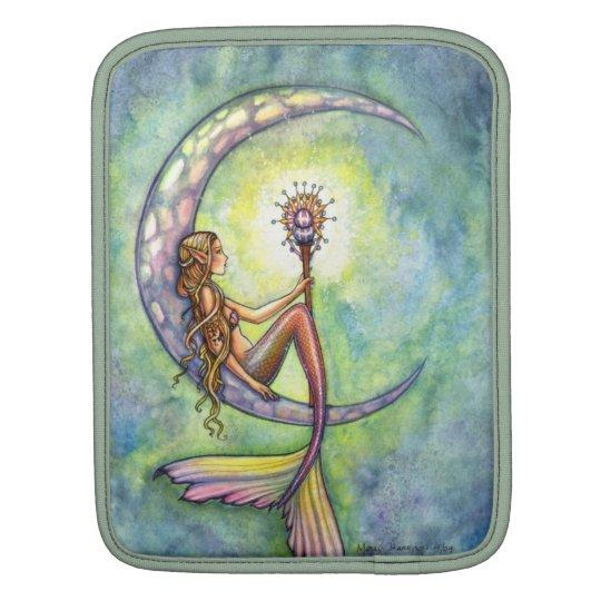 Mermaid Moon Watercolor Mermaid Molly Harrison Art Sleeve For iPads