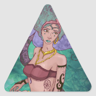 Mermaid: Mortality is Foreign to Them Triangle Sticker