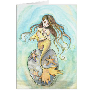 Mermaid Mother and Baby Card