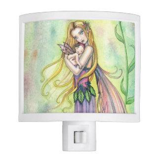 Mermaid Mother and Baby Fairy Art Nite Lites