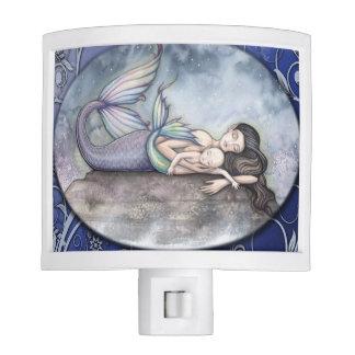Mermaid Mother and Baby Mermaid Art Night Lites