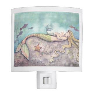 Mermaid Mother and Baby Mermaid Art Nite Light