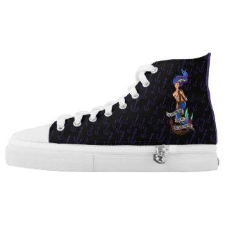 mermaid_msaquapurple_hightopsblkpurple High-Top sneakers