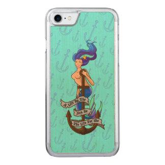 mermaid_msaquapurple_slimwood carved iPhone 7 case