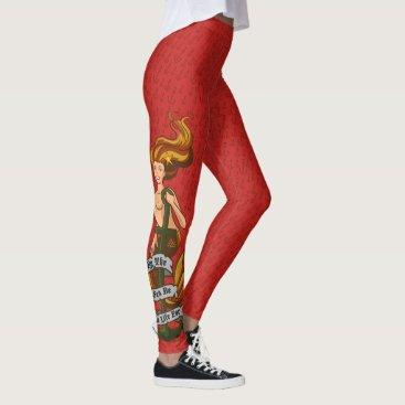 Beach Themed mermaid_msorange_redleggings leggings