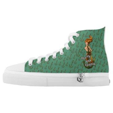 Beach Themed mermaid_msorange_shoes High-Top sneakers