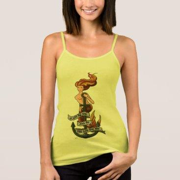 Beach Themed mermaid_msorange_yellowshirt tank top