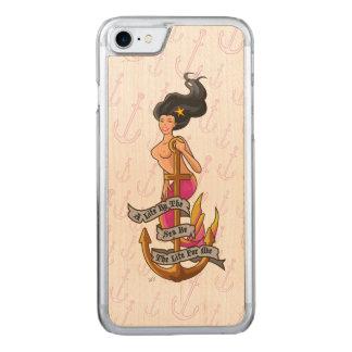mermaid_mspink_slimwood carved iPhone 8/7 case