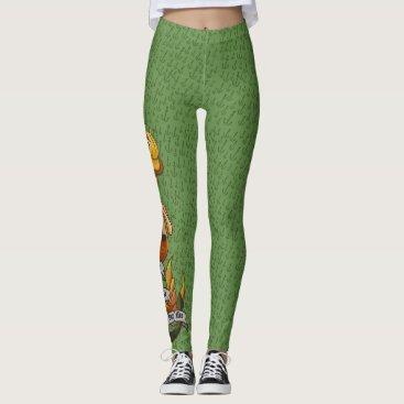 Beach Themed mermaid_msyellow_greenleggings leggings