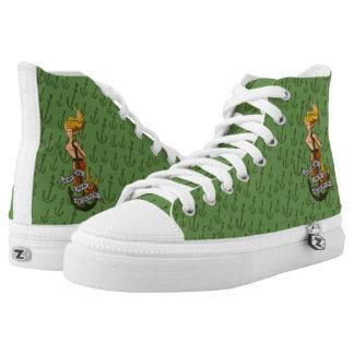 mermaid_msyellow_hightopsgreen High-Top sneakers