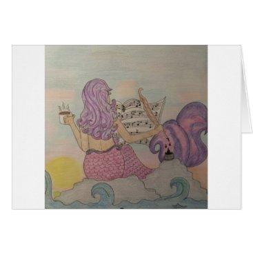 Beach Themed Mermaid Music Card