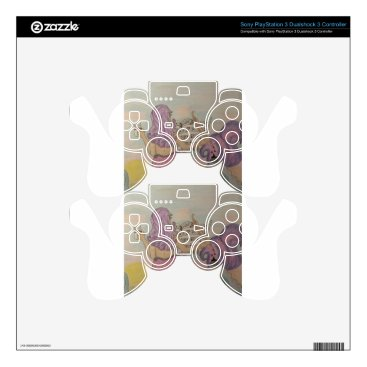 Beach Themed Mermaid Music Decal For PS3 Controller
