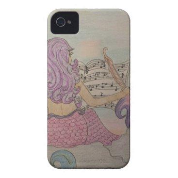 Beach Themed Mermaid Music iPhone 4 Case