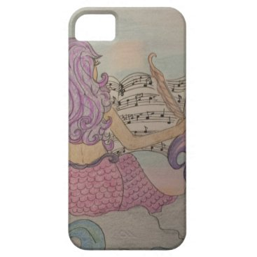 Beach Themed Mermaid Music iPhone SE/5/5s Case