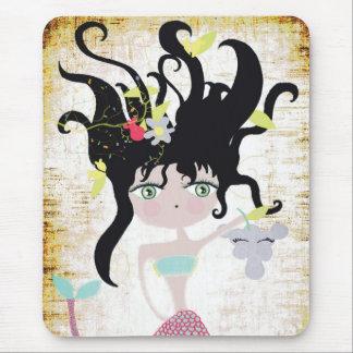 Mermaid mystique swimmer vintage  fairy heavenly mouse pad