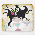 Mermaid mystique swimmer vintage  fairy heavenly mouse pads