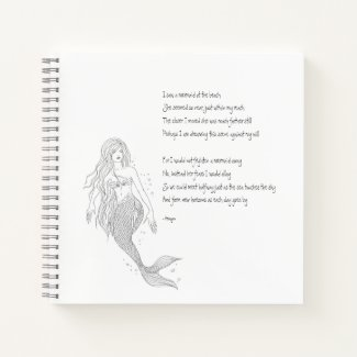 "Mermaid Notebook ""I Saw A Mermaid At The Beach"""