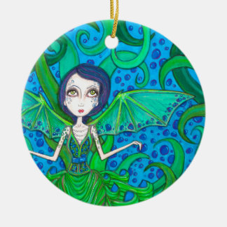Mermaid octo ceramic ornament
