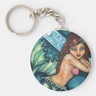 Mermaid of desire basic round button keychain