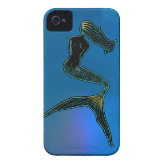 Mermaid of the Moon (Coral Blue) iPhone 4 Case-Mate Case