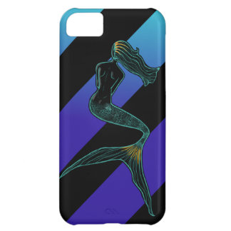 Mermaid of the Moon (Sea Stripes) Cover For iPhone 5C