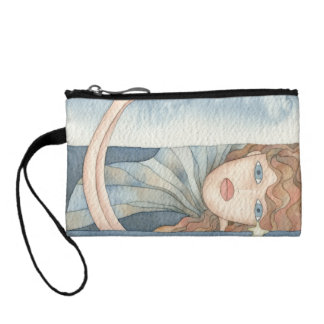 Mermaid of the sea, watercolor coin purse