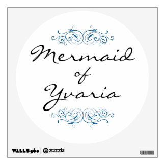 Mermaid of Yvaria Wall Decal - Blue