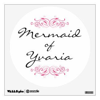 Mermaid of Yvaria Wall Decal - Pink