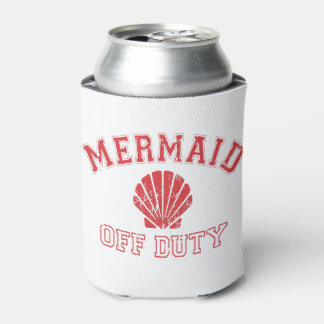 Mermaid Off Duty Distressed Vintage Can Cooler