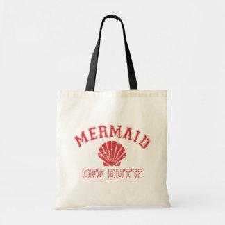 Mermaid Off Duty Distressed Vintage Tote Bag