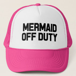 Mermaid off duty funny women's hat