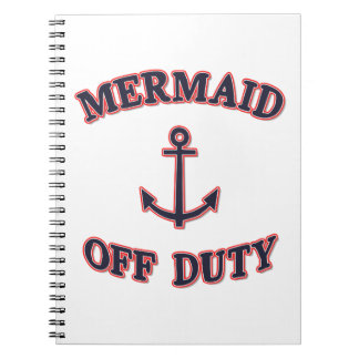 Mermaid Off Duty - Navy Blue Quote Notebook