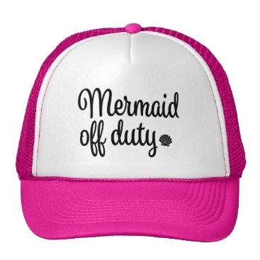 Beach Themed Mermaid off duty women's hat