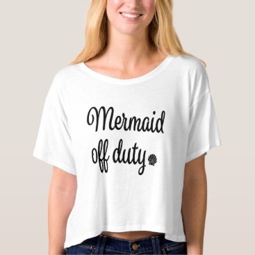Beach Themed Mermaid off duty women's shirt