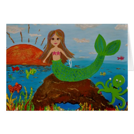 mermaid offerings greeting cards