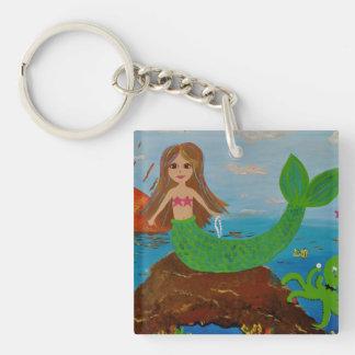 mermaid offerings key chain