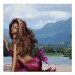 Mermaid on a Sandbar Poster