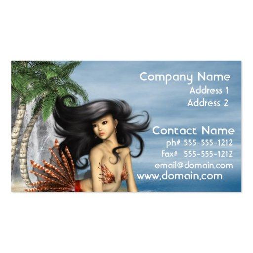 Mermaid on Beach Business Cards