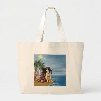 Mermaid on Beach Canvas Bag
