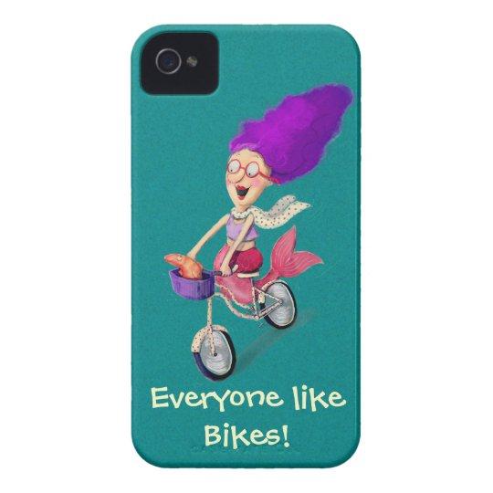 Mermaid on Bike iPhone 4 Case